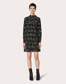 Undercover Print Crepe de Chine Dress