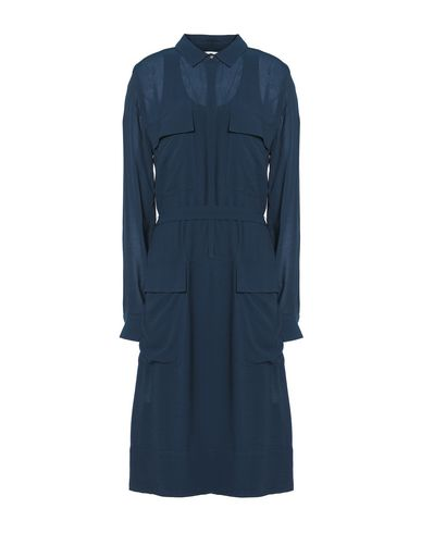 Купить Платье до колена от DKNY темно-синего цвета