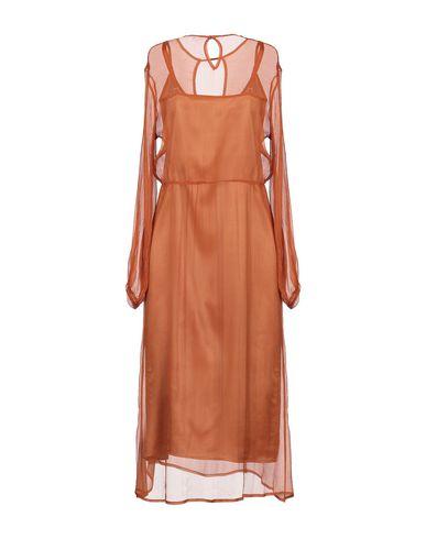 Фото 2 - Платье длиной 3/4 ржаво-коричневого цвета