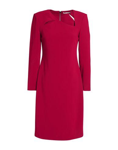 Купить Женское короткое платье  красно-коричневого цвета