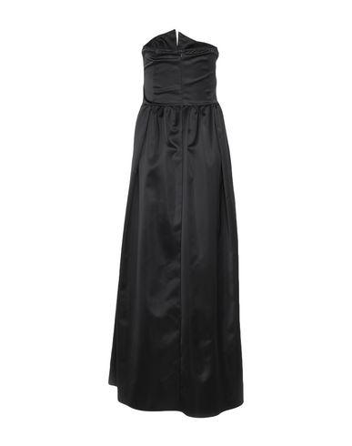 Фото 2 - Женское длинное платье CARLA G. черного цвета