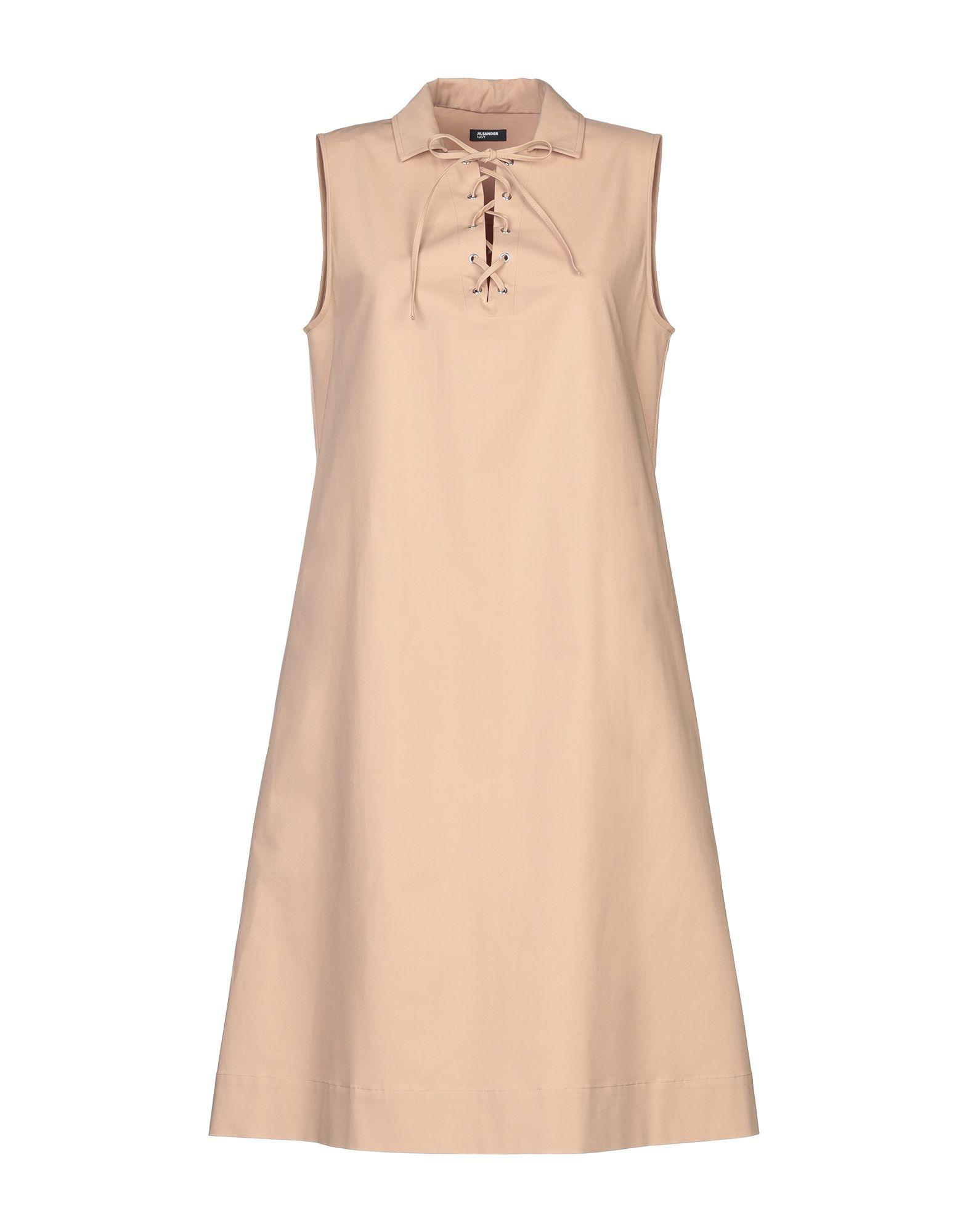 JIL SANDER NAVY Платье до колена цена 2017