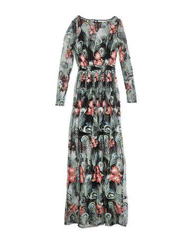 Фото 2 - Женское длинное платье KORALLINE черного цвета