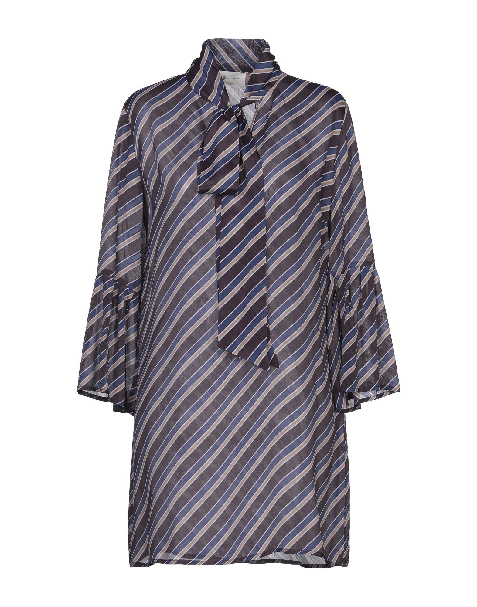 Короткое платье  - Коричневый цвет