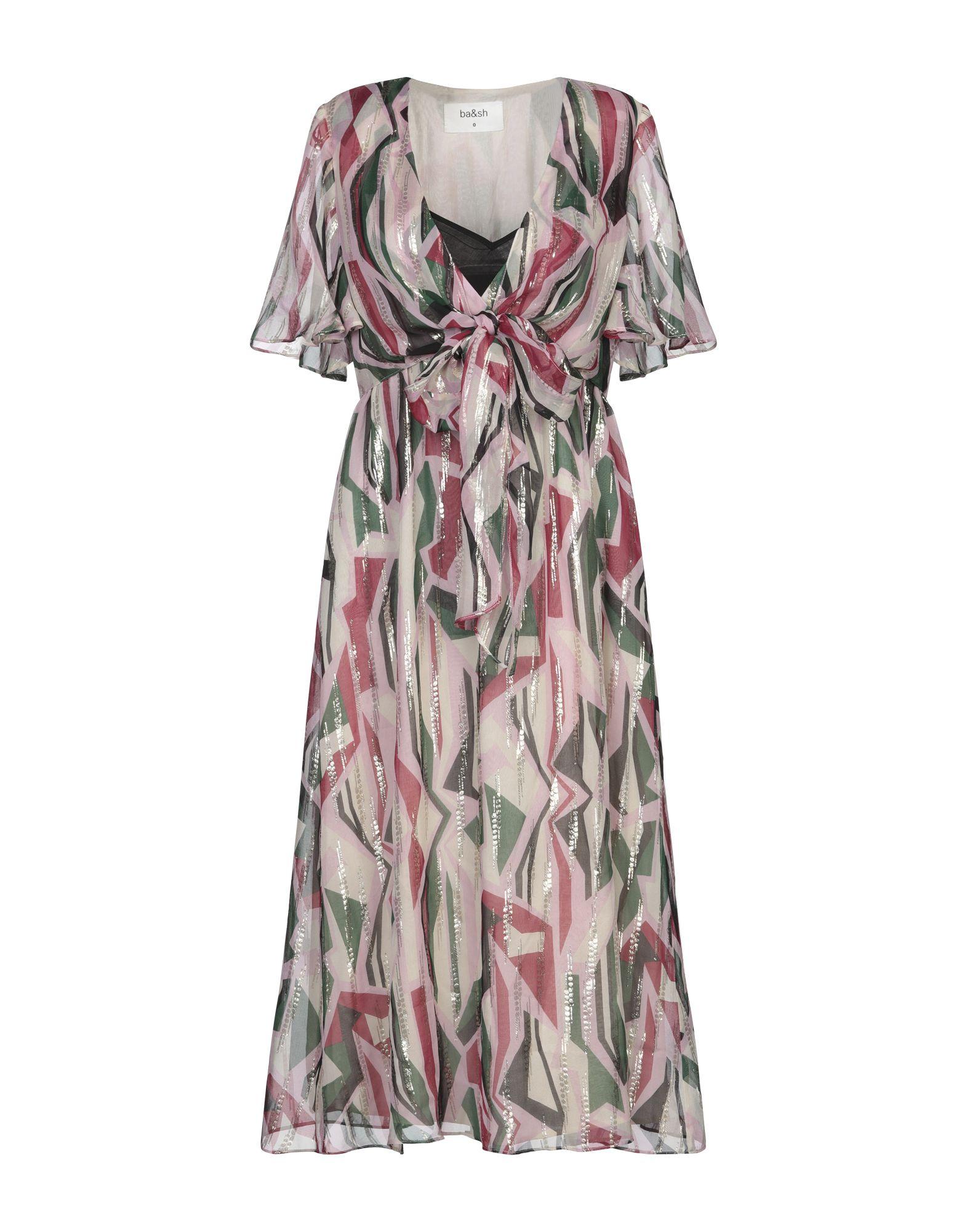 BA&SH Платье длиной 3/4 платье sh moultrie цвет бордовый rna18349ve cordovan размер xs 40