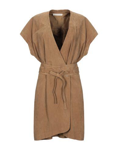 Купить Женское короткое платье  цвет верблюжий