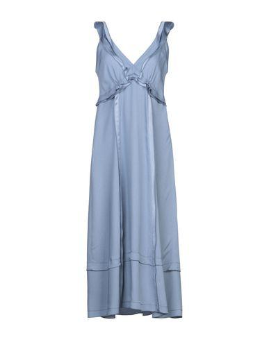 Купить Платье длиной 3/4 пастельно-синего цвета