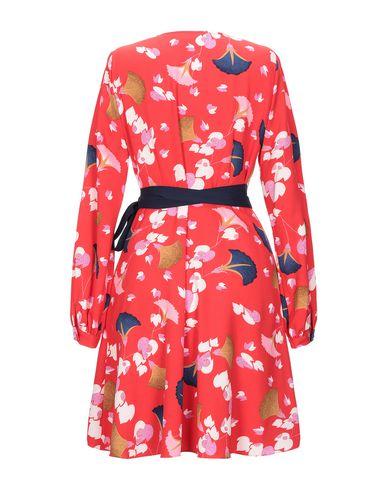 Фото 2 - Женское короткое платье ESSENTIEL ANTWERP красного цвета