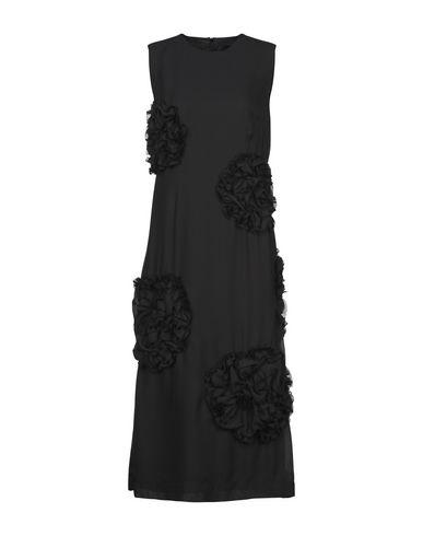 Купить Женское длинное платье SIMONE ROCHA черного цвета
