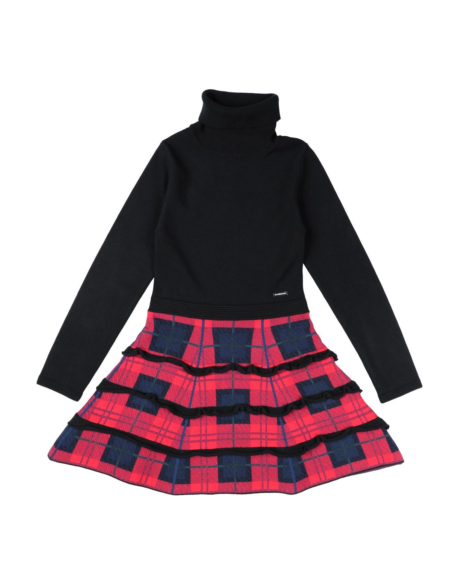 DSQUARED2 Dresses. knitted, tartan plaid, lightweight knit, turtleneck, long sleeves, no pockets, unlined, logo, hand wash, dry cleanable, iron at 110degree c max, do not bleach, do not tumble dry, stretch, small sized. 68% Rayon, 29% Acrylic, 3% Elastane