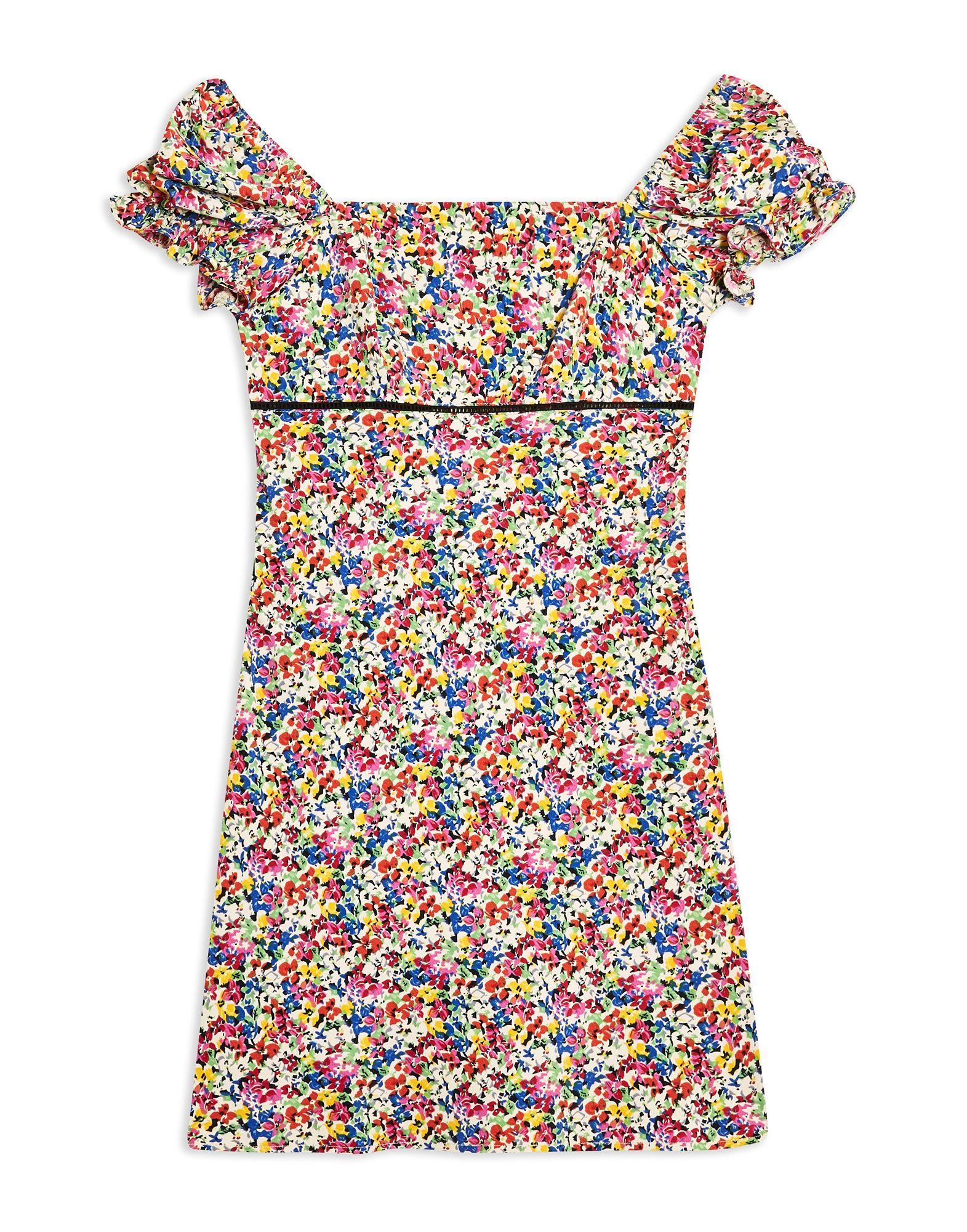 TOPSHOP Короткое платье джинсы topshop topshop to029ewcimk2