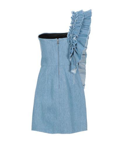 Фото 2 - Женское короткое платье FORTE DEI MARMI COUTURE синего цвета