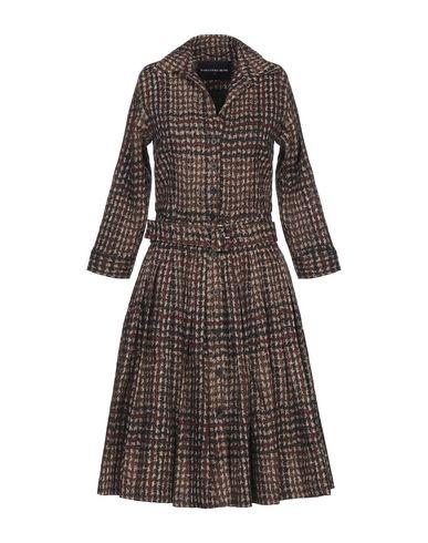 Купить Платье до колена от SAMANTHA SUNG темно-коричневого цвета