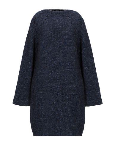 Фото - Женское короткое платье HUMANOID темно-синего цвета