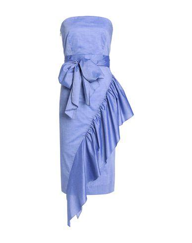 Фото - Платье до колена синего цвета