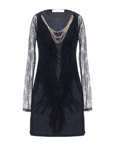 Фото - Женское короткое платье ELISABETTA FRANCHI GOLD темно-синего цвета