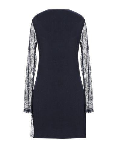 Фото 2 - Женское короткое платье ELISABETTA FRANCHI GOLD темно-синего цвета