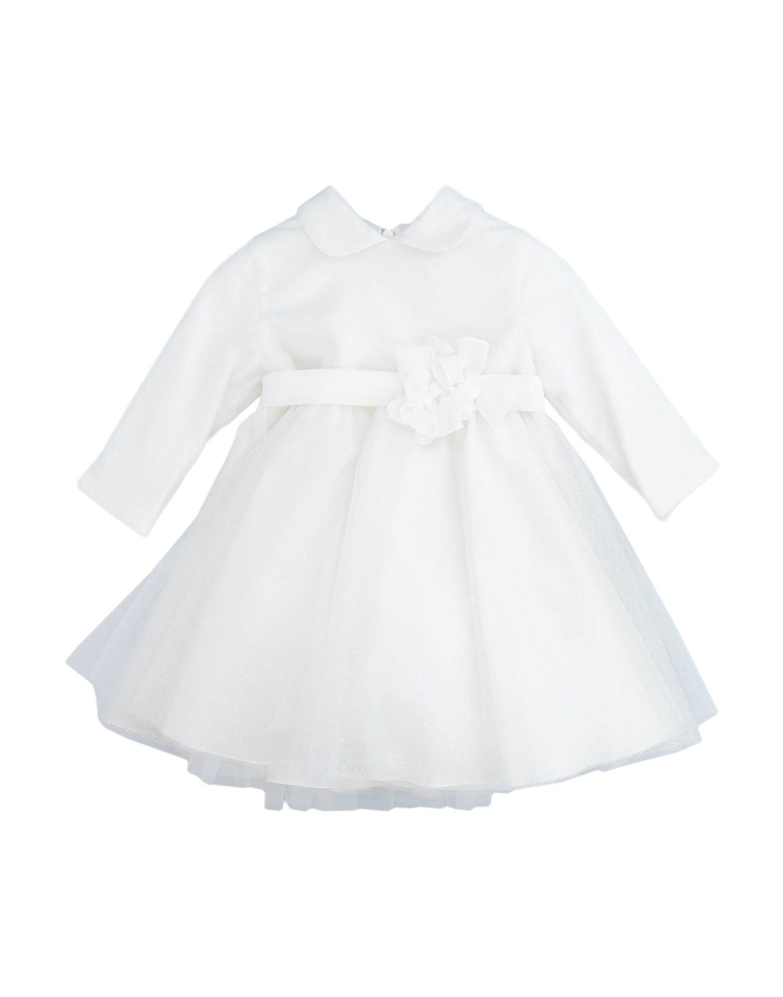 《セール開催中》ALETTA ガールズ 0-24 ヶ月 ワンピース・ドレス ホワイト 9 コットン 100% / ナイロン / ポリエステル