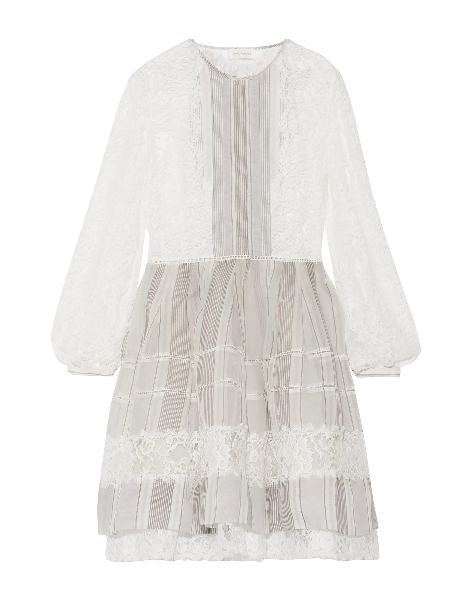 где купить ZIMMERMANN Короткое платье по лучшей цене