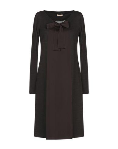 Купить Женское короткое платье ROSSO35 темно-коричневого цвета