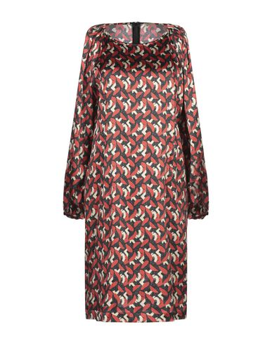 Купить Женское короткое платье  кирпично-красного цвета