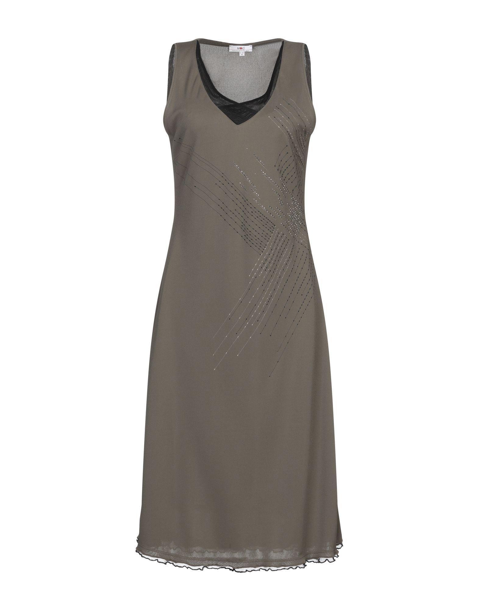 MG MAGLIFICIO Платье до колена цена 2017