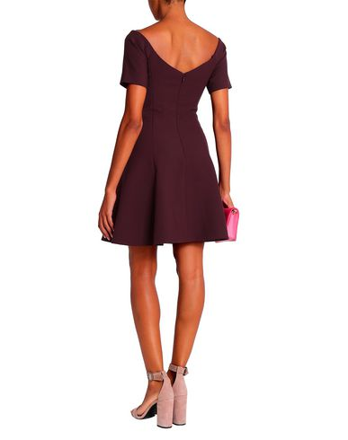 Фото 2 - Женское короткое платье CINQ À SEPT цвет баклажанный
