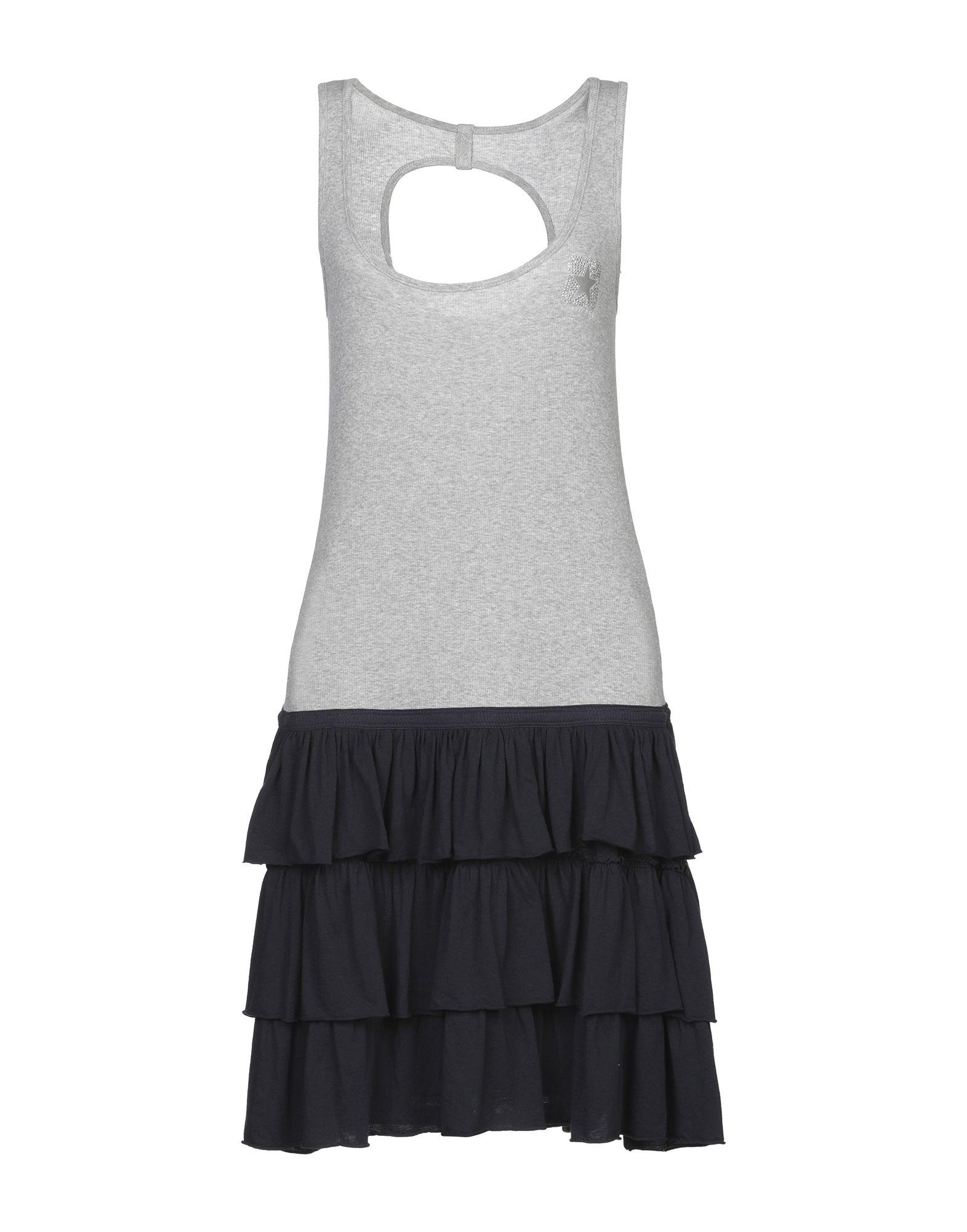 Платье до колена  - Серый цвет