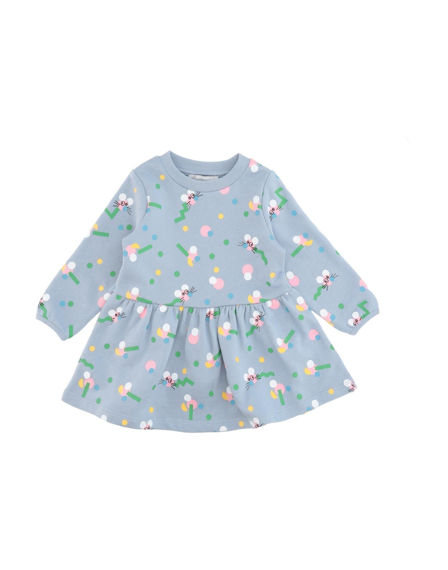 《セール開催中》STELLA McCARTNEY KIDS ガールズ 0-24 ヶ月 ワンピース・ドレス スカイブルー 9 コットン 100% / ポリウレタン