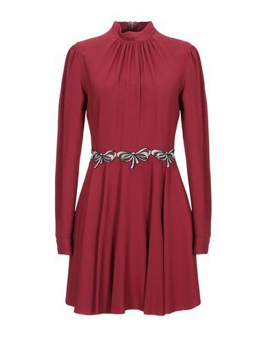 Купить Женское короткое платье GAMBA красно-коричневого цвета