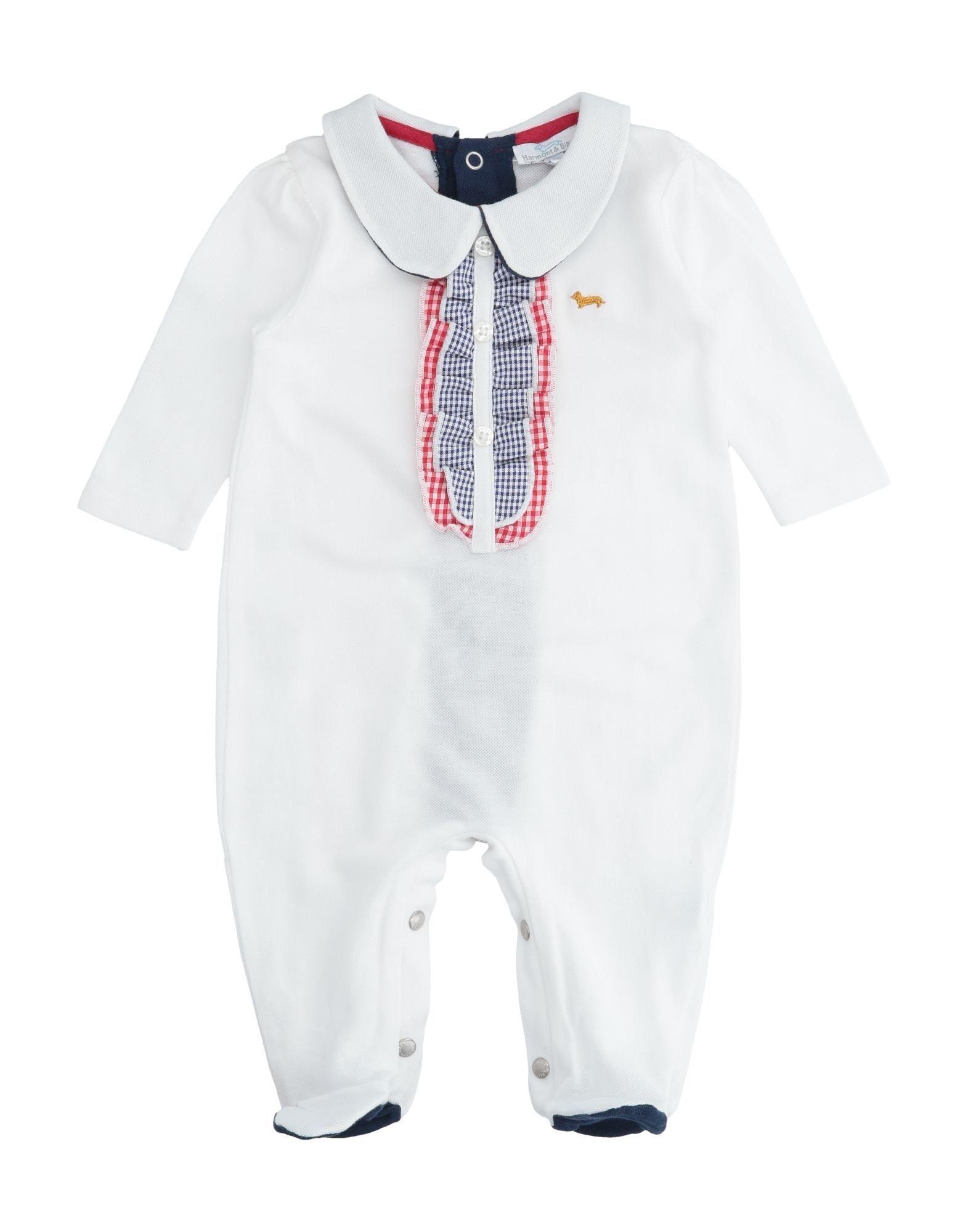 YOOX.COM(ユークス)《セール開催中》HARMONT & BLAINE ボーイズ 0-24 ヶ月 乳幼児用ロンパース ホワイト 6 コットン 100%