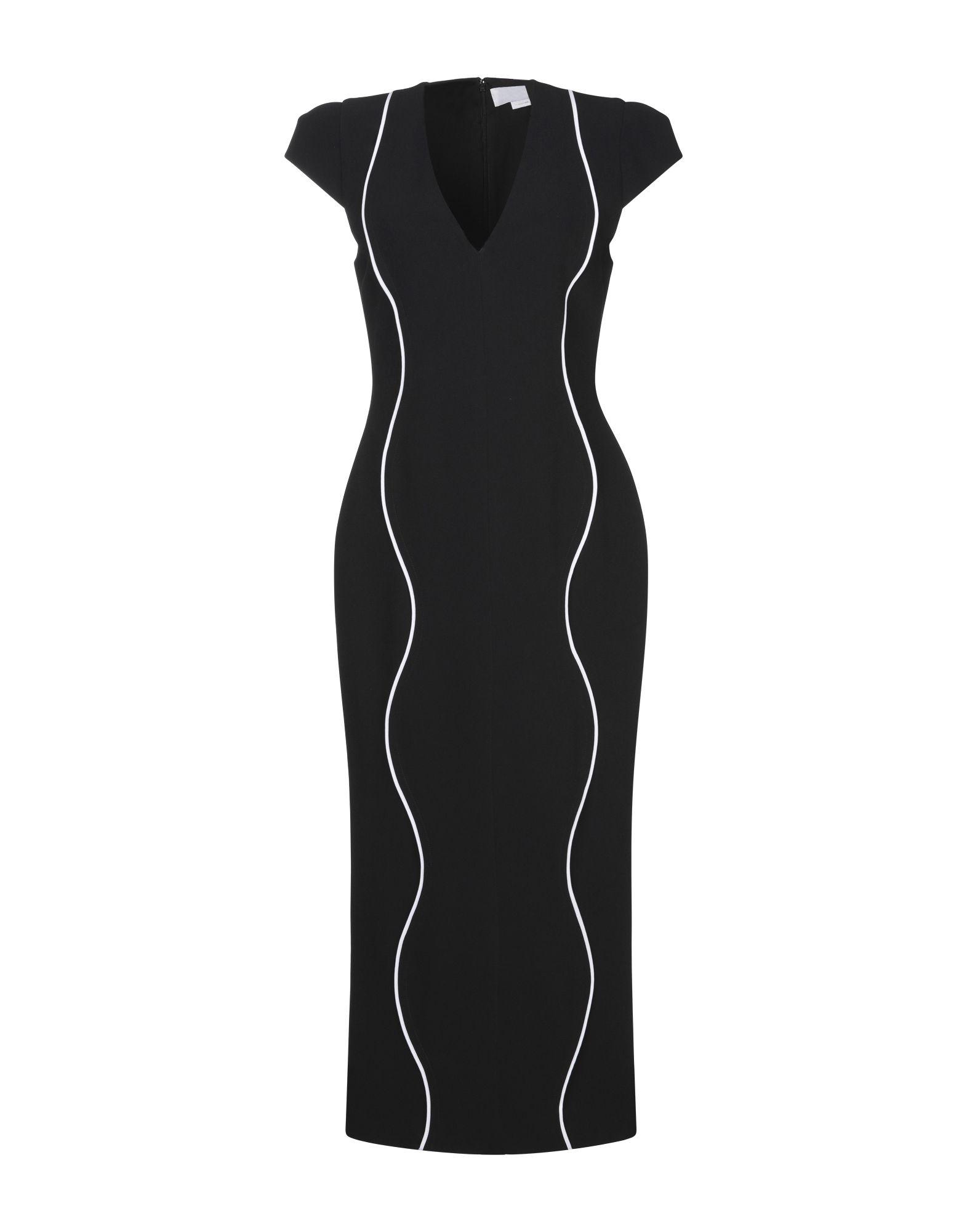 GENNY ジェニー レディース 7分丈ワンピース・ドレス ブラック - フューシャ