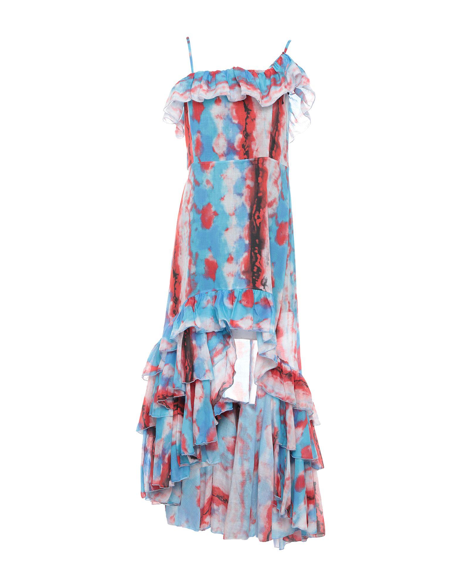 《期間限定セール開催中!》SOALLURE レディース ミニワンピース&ドレス ブルー 40 コットン 100%