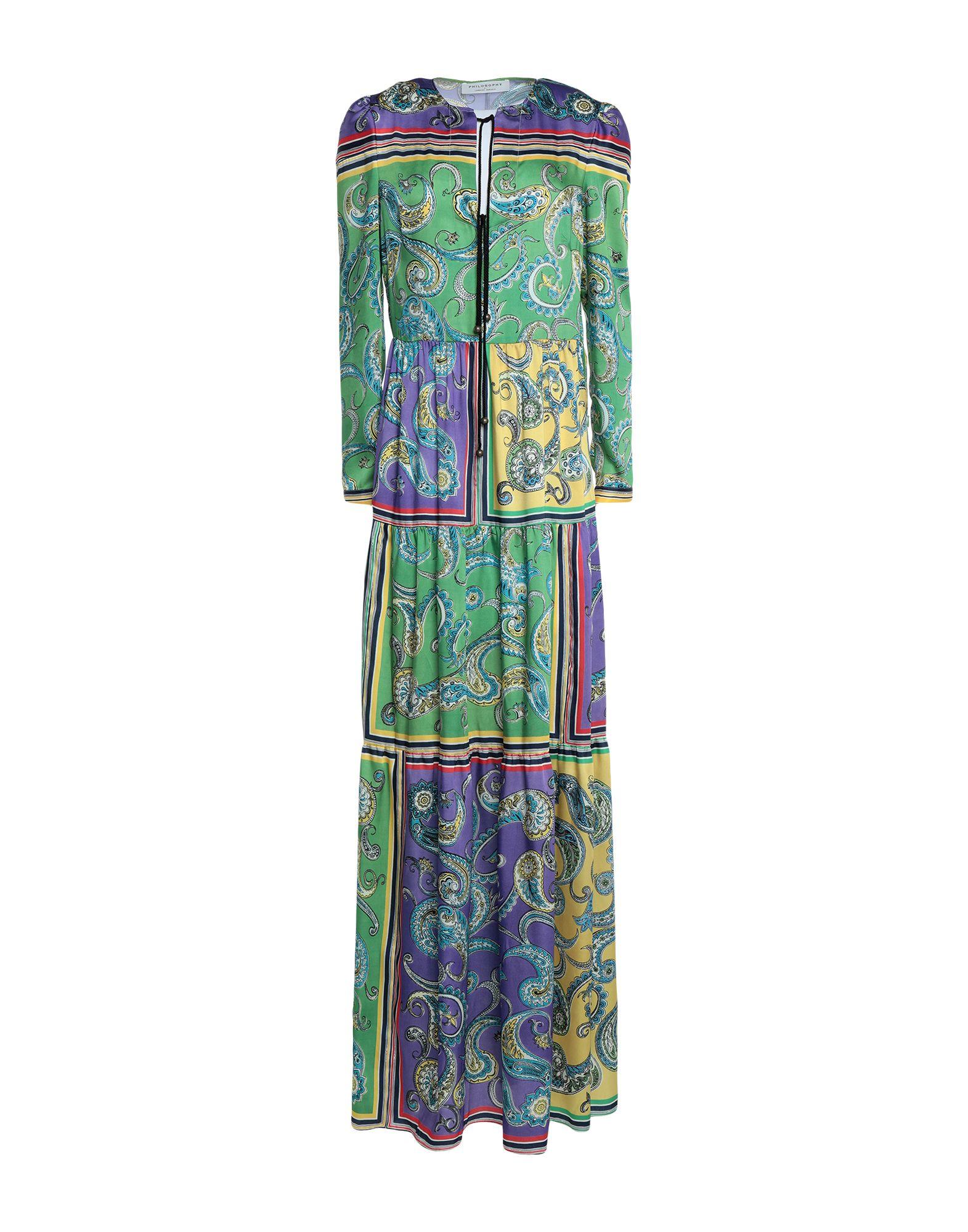 PHILOSOPHY di ALBERTA FERRETTI Длинное платье длинное платье с кружевными вставками fhilosophy di alberta ferretti
