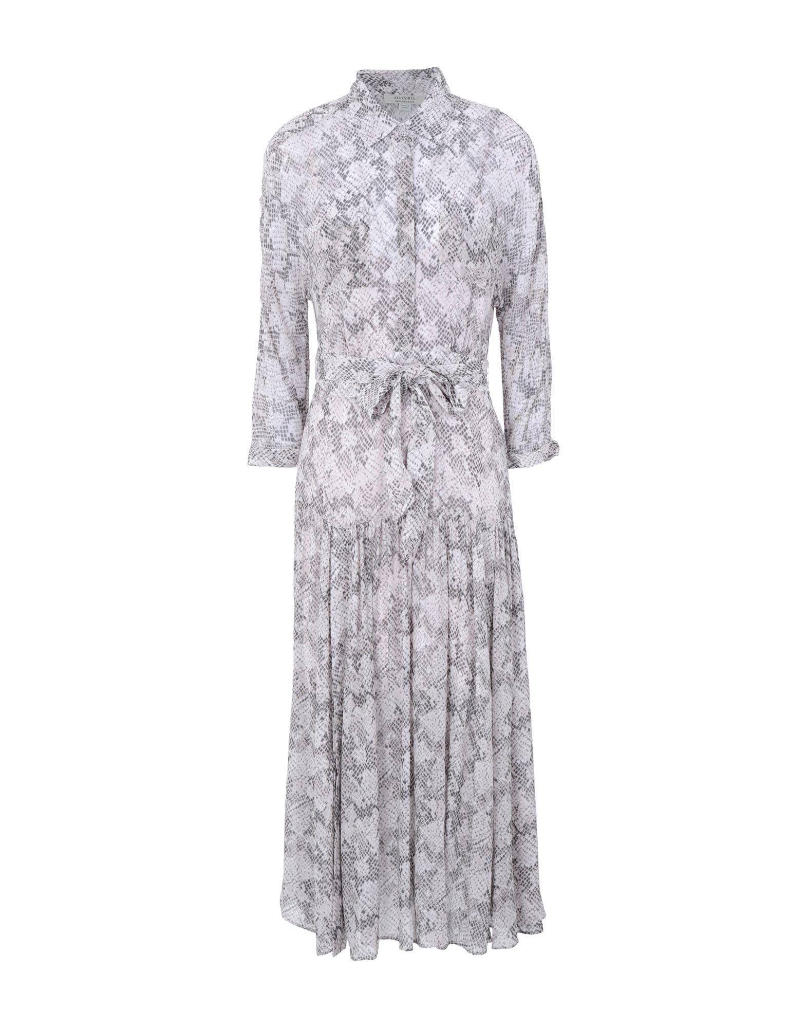 《セール開催中》ALLSAINTS レディース 7分丈ワンピース・ドレス ライトグレー 4 ポリエステル 100% ELEY MIDGARD DRESS