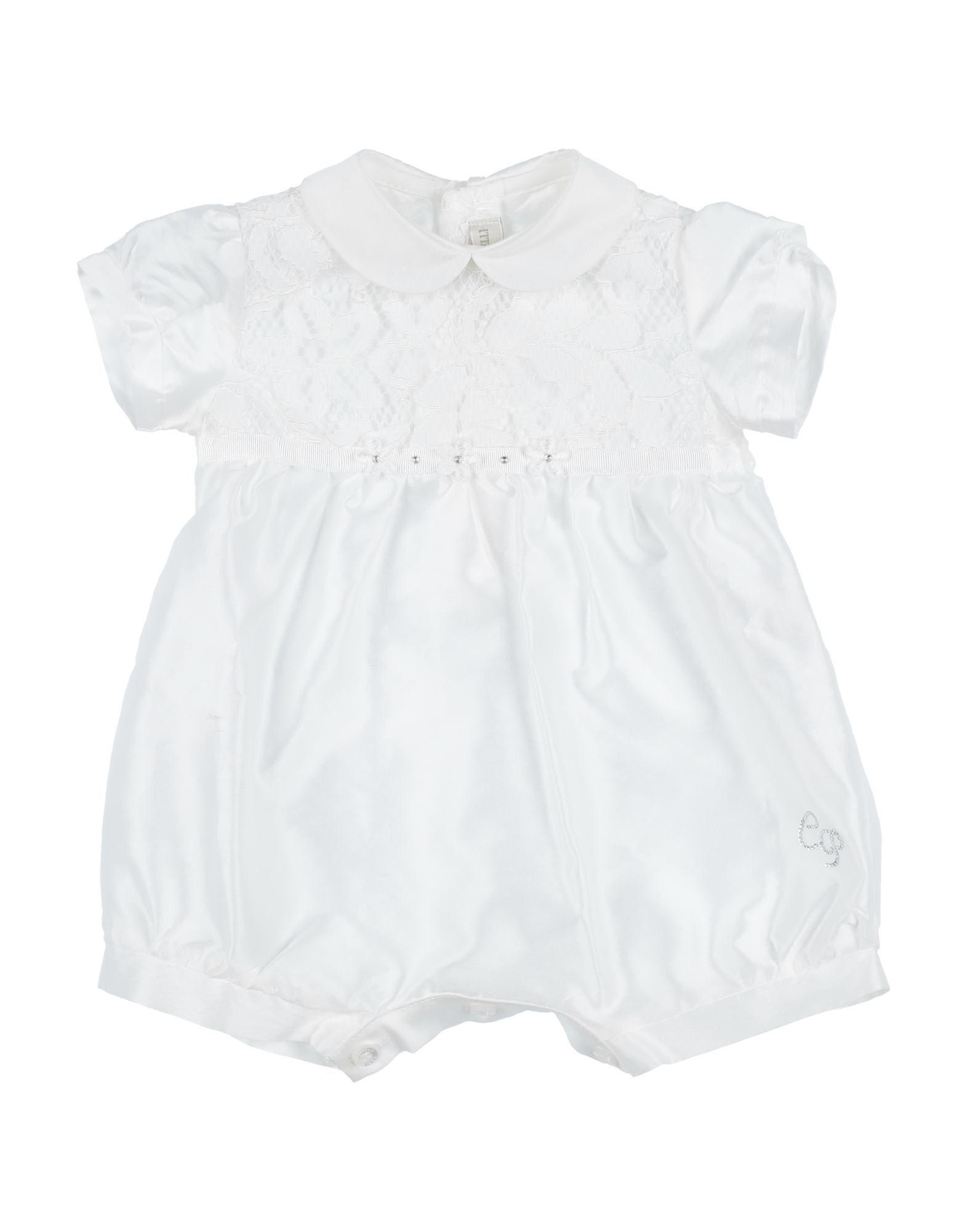 YOOX.COM(ユークス)《セール開催中》CARLO PIGNATELLI ガールズ 0-24 ヶ月 乳幼児用ロンパース アイボリー 1 コットン 93% / ポリウレタン 7%