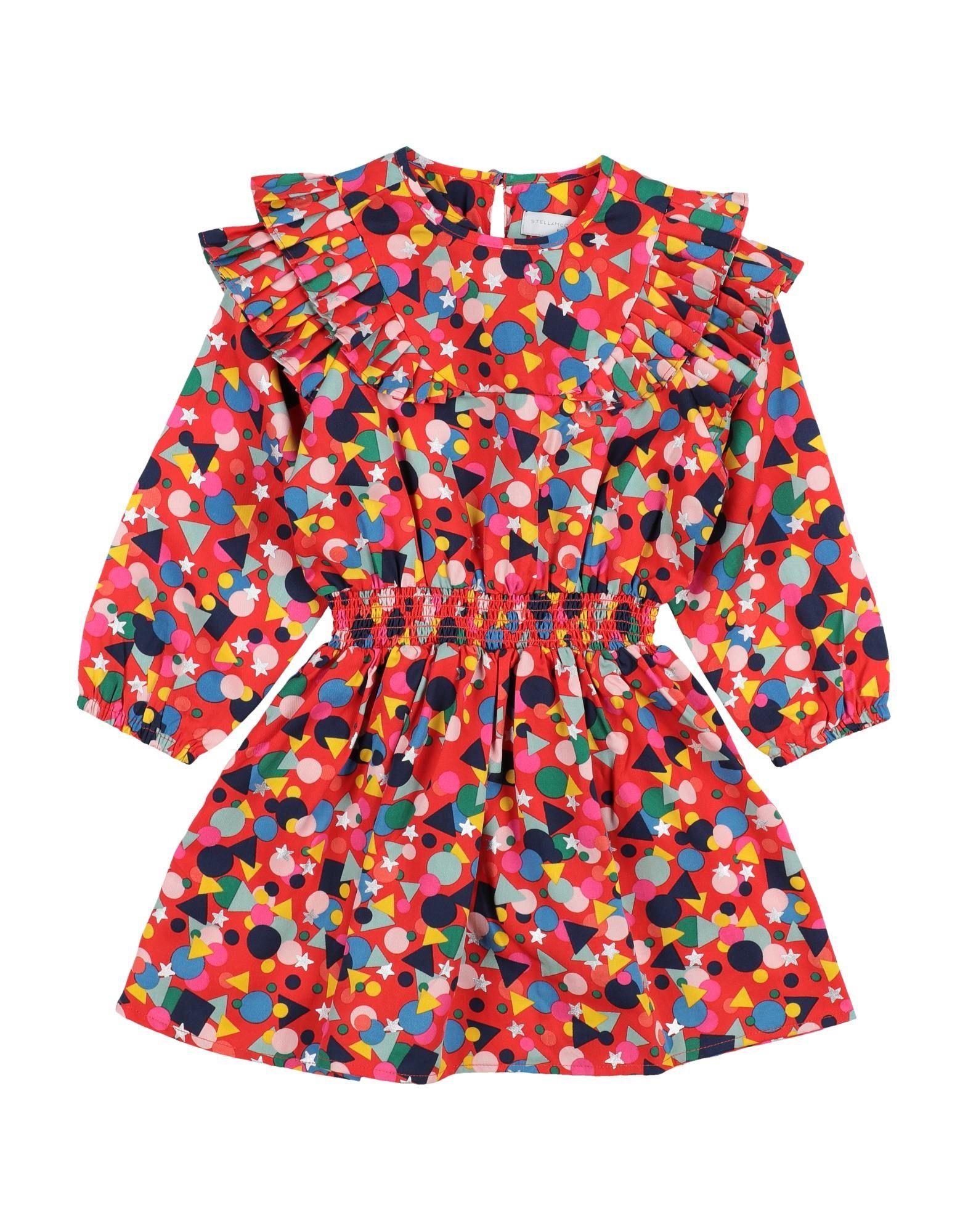 《セール開催中》STELLA McCARTNEY KIDS ガールズ 9-16 歳 ワンピース&ドレス レッド 10+ テンセル 100%