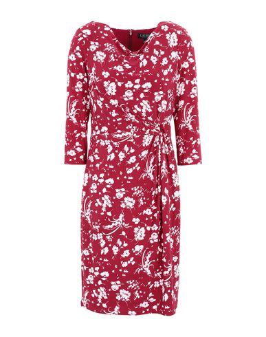 Фото - Женское короткое платье LAUREN RALPH LAUREN цвет пурпурный