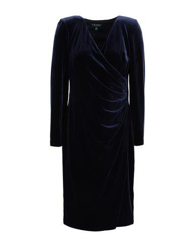 Фото - Платье до колена от LAUREN RALPH LAUREN темно-синего цвета