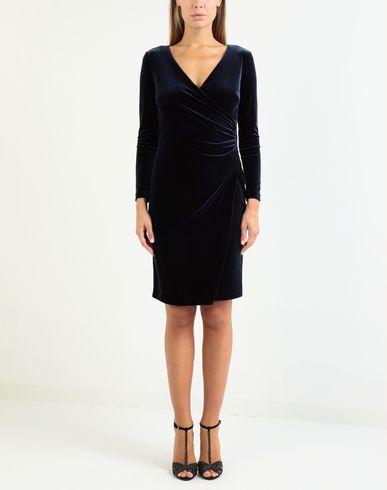 Фото 2 - Платье до колена от LAUREN RALPH LAUREN темно-синего цвета