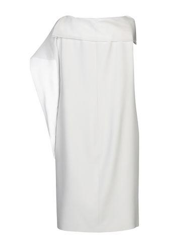 Фото 2 - Платье до колена от BOTONDI MILANO светло-серого цвета