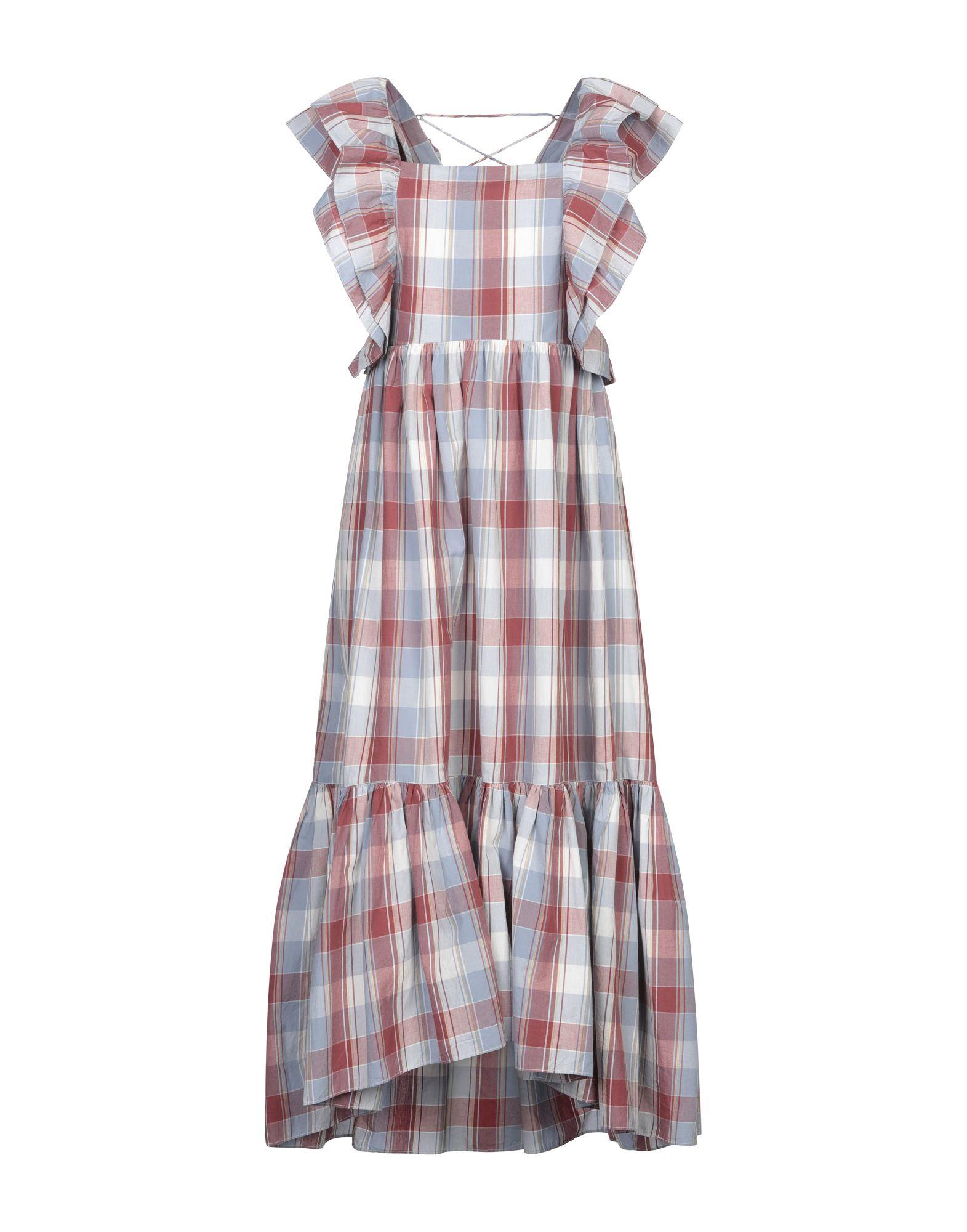 ULLA JOHNSON Длинное платье цена 2017