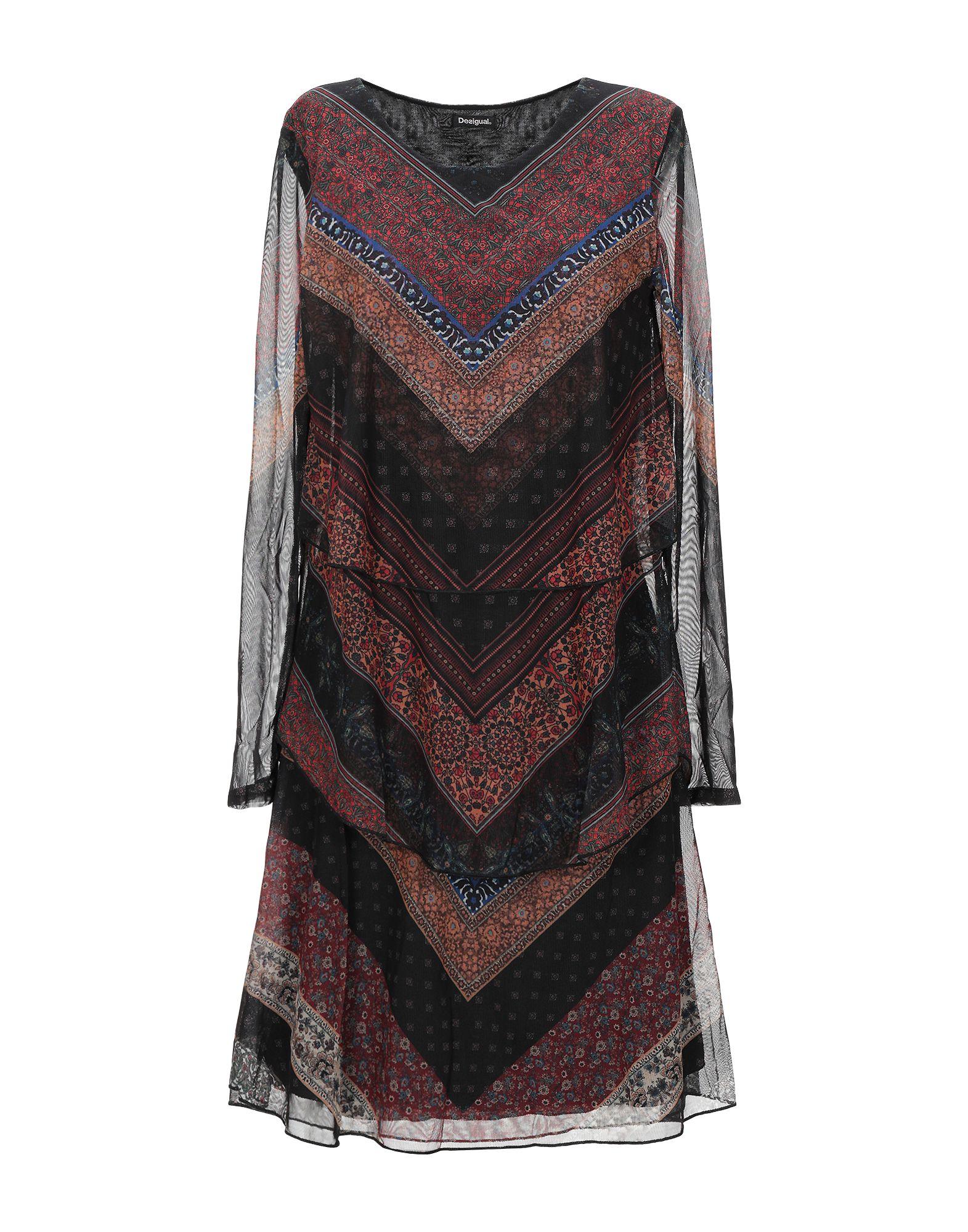 DESIGUAL Короткое платье платье без рукавов с принтом вуаль на подкладке desigual vest juana
