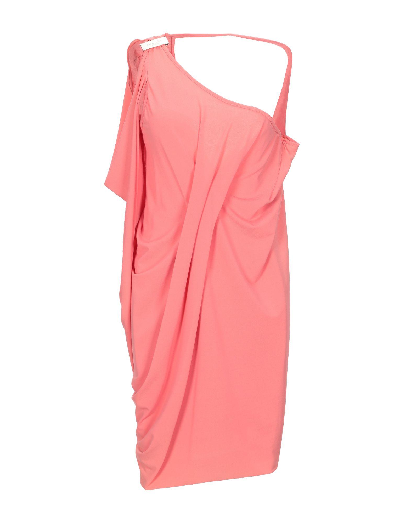 CRISTINAEFFE Короткое платье платье коктейльное из одно плечо
