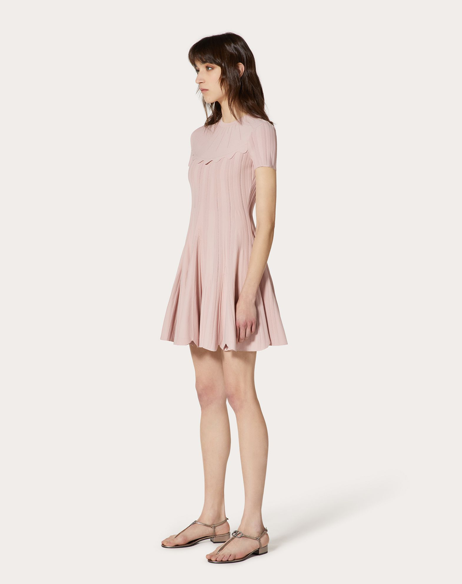 Stretch-Viscose Knitted Dress