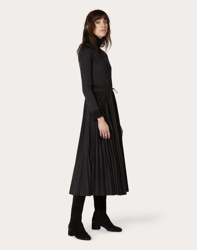 Платье из джерси с принтом VLTNSTAR
