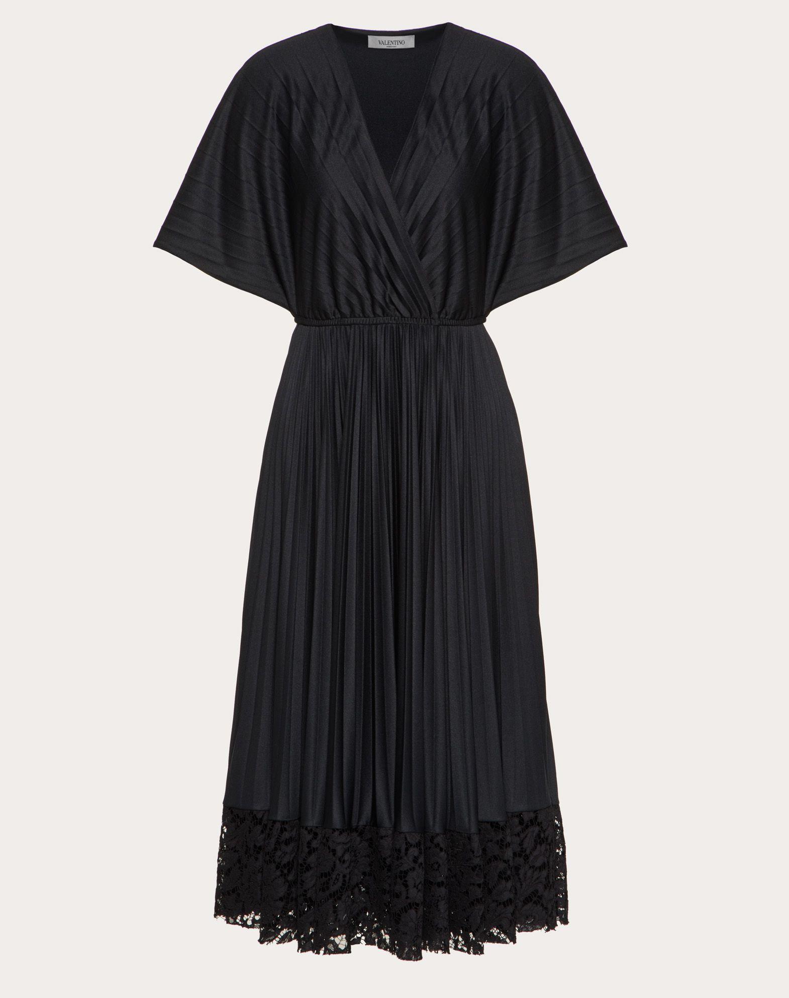 Платье плиссе из джерси и кружева Heavy Lace