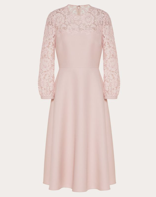Crepe Couture and Heavy Lace Dress