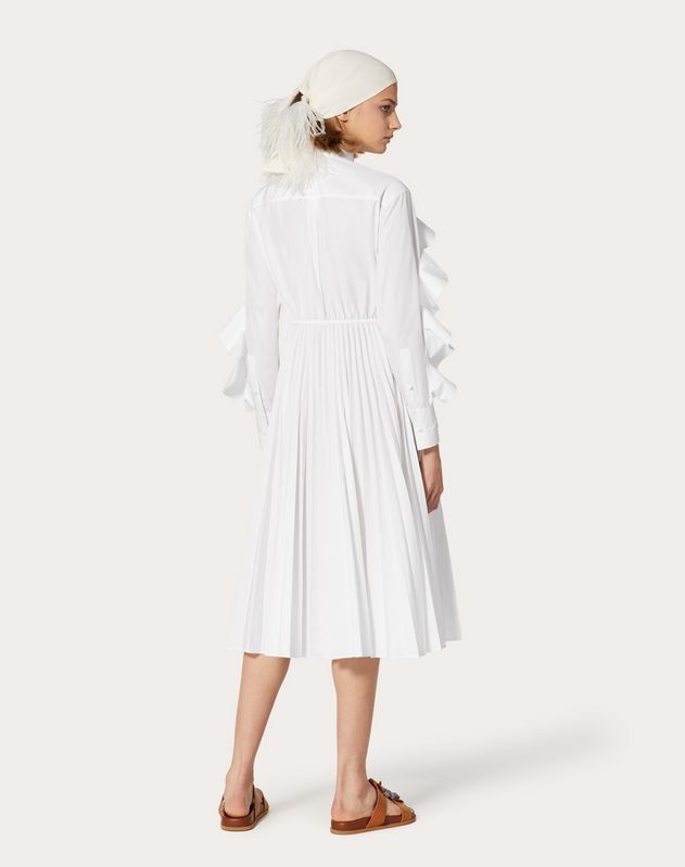 Technical Poplin Midi Dress