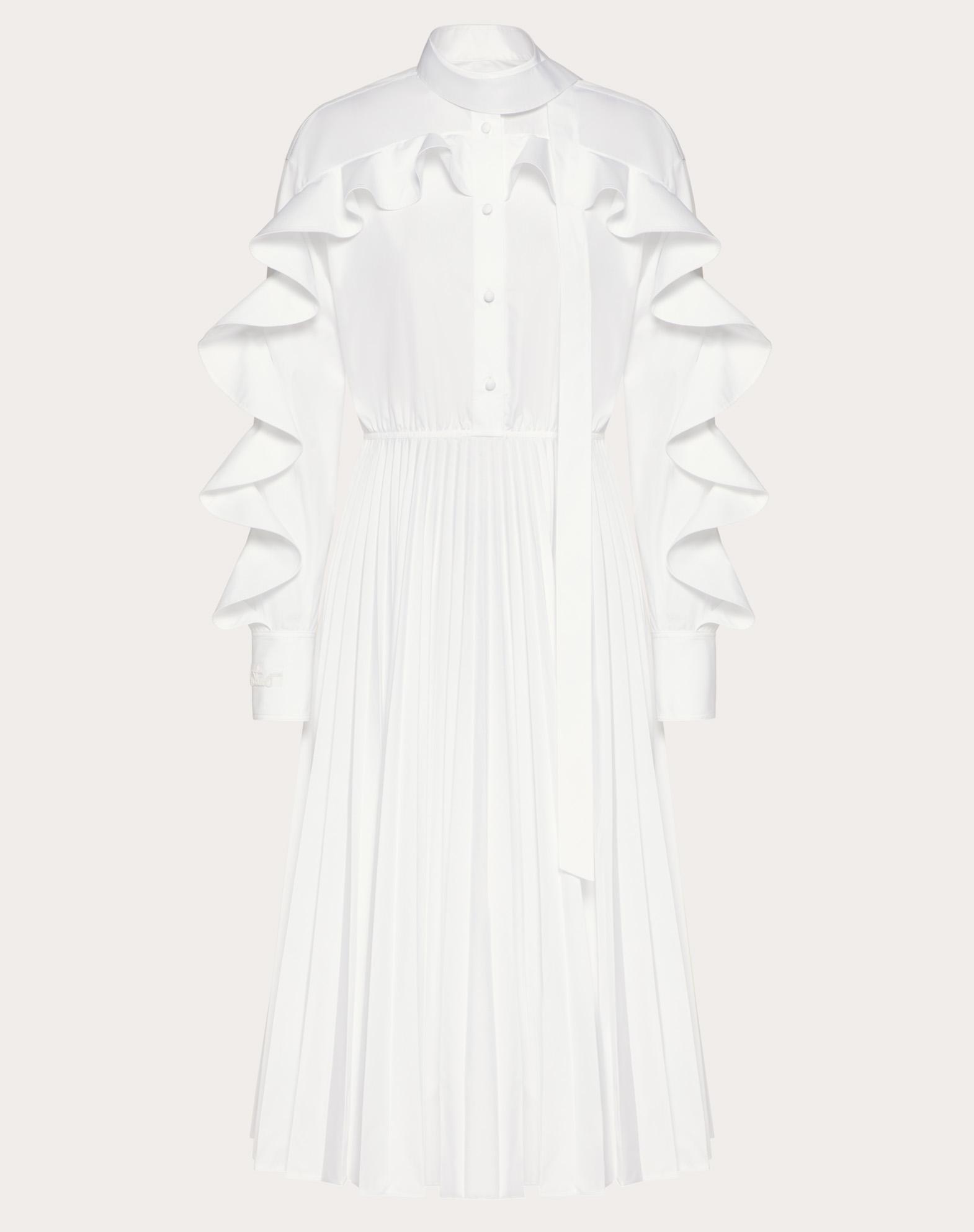 Technical Poplin Midi Dress